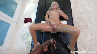 Athena - Creampied By Her First Black Guy