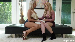 Athena and Nikki - Getting The Busty Blondes Together