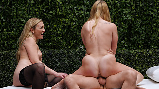 Natalie and Adira - Creampied Pussy Gets Eaten Out By Adira