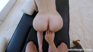 Miley - Natural Redhead Very Nervous
