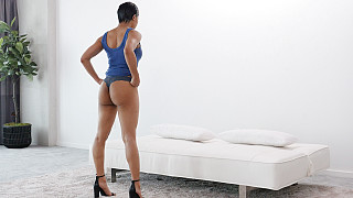Alyssa - Round Ass Black Girl Takes It Up Her Ass Picture #3