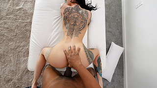 Sabrina - Tattooed Tall Girl With Big Ass Fucks BBC Picture #11
