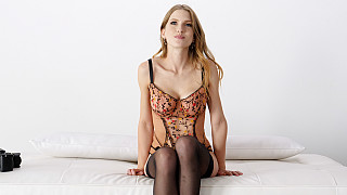 Octavia - Natural Big Titty Blonde In Lingerie Picture #1