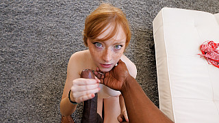 Amber - Innocent Redhead Has Her First Black Dick Picture #14