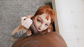 Luna - PAWG Redhead Takes A BBC DEEP Picture #12
