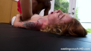 Melissa - Redhead Fucks Her First Black Guy