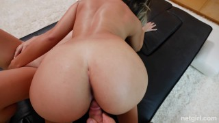 Brooke and Kendra - Brooke Receives Her First Threesome